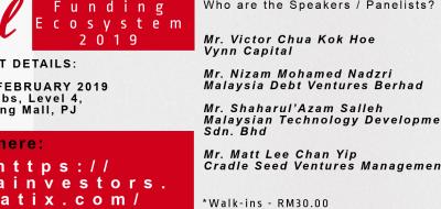 MVCA – Funding Ecosystem 2019 : Malaysia & Beyond